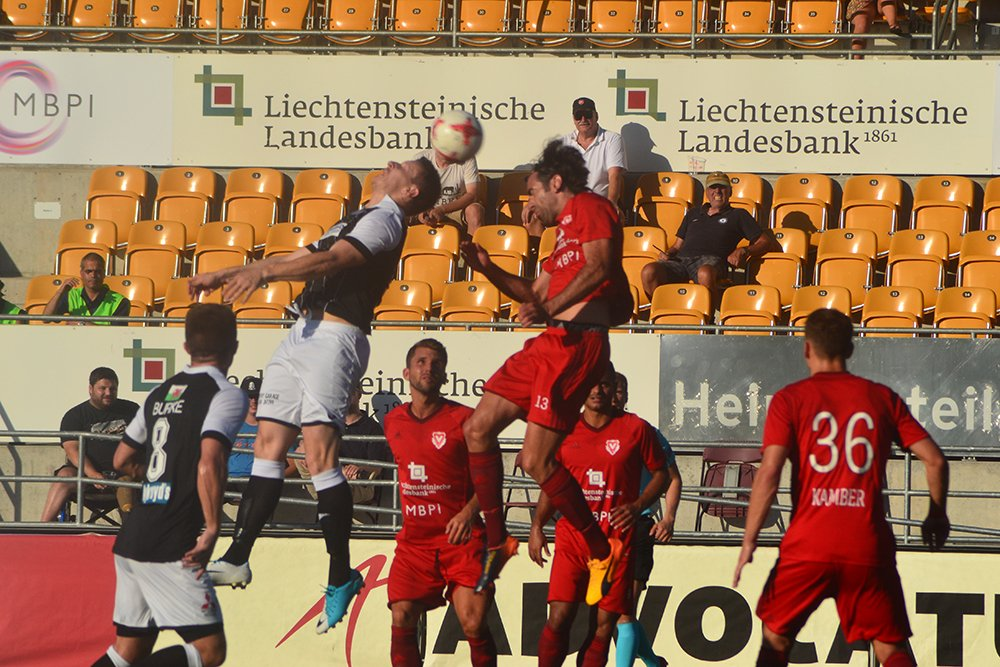 Action from FC Vaduz v Bala Town [Pic: Bala Town FC]