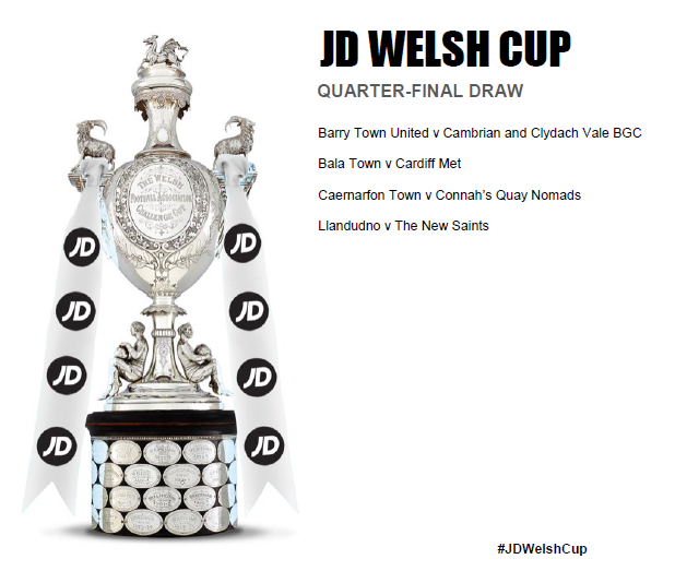 Cambrian to face Barry in JD Welsh Cup Quarter-Finals