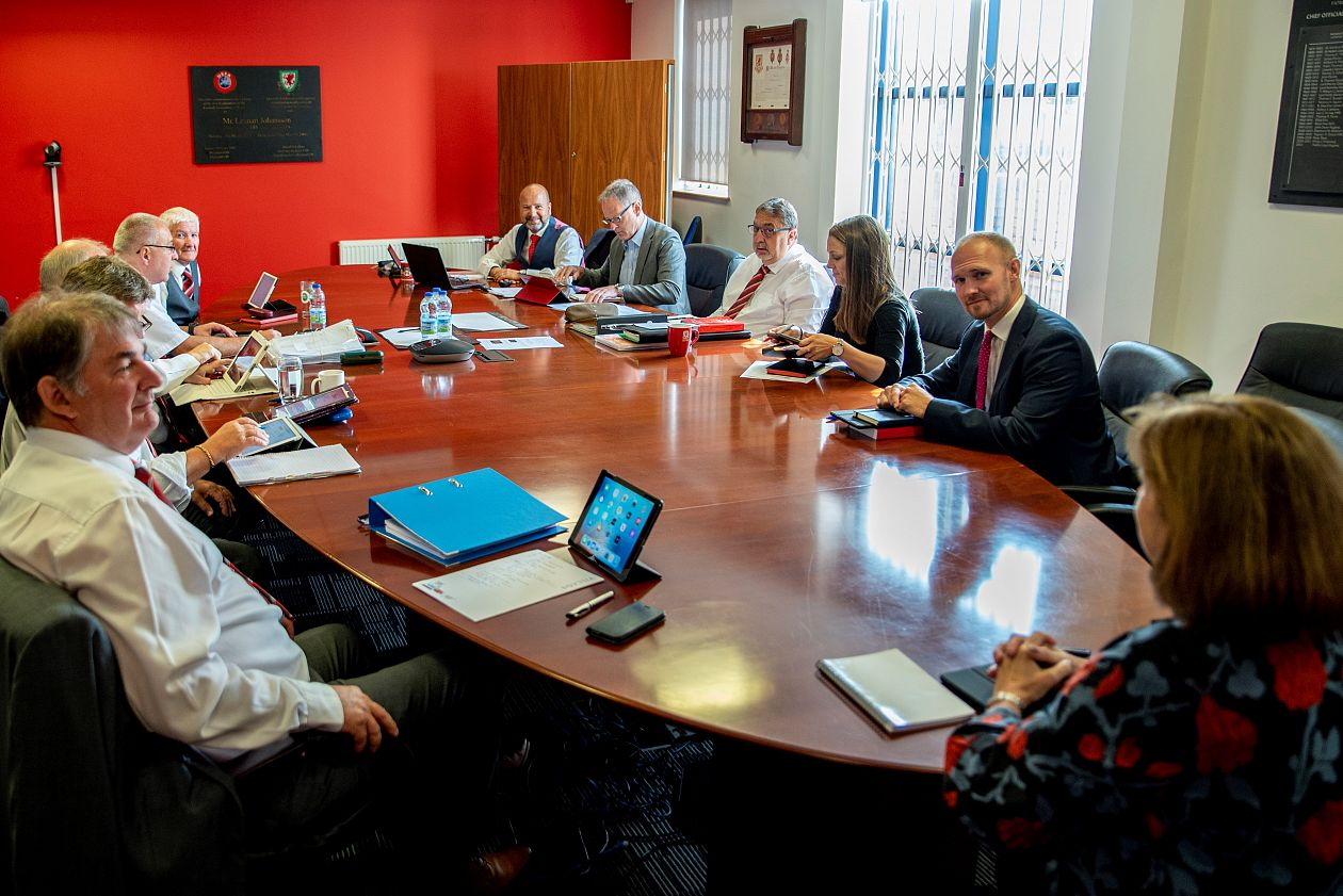 FAW Executive Board sit for inaugural meeting.