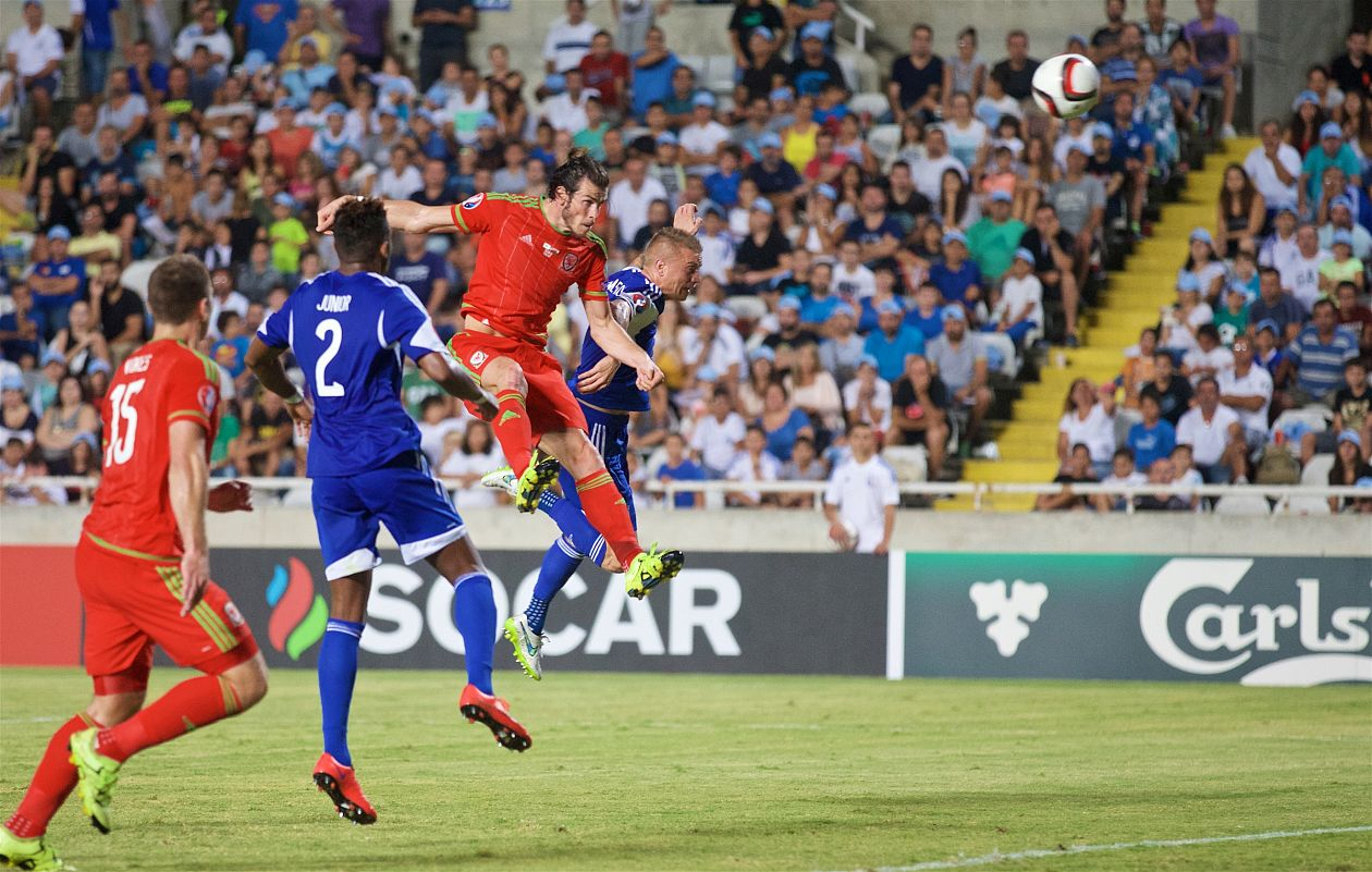 BALE HEADER WINS IT FOR UNDEFEATED WALES